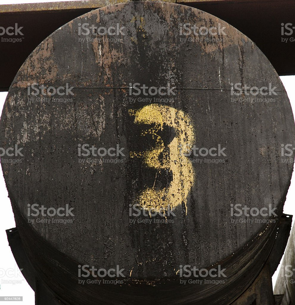 barrel three/6 (one thru six series) stock photo