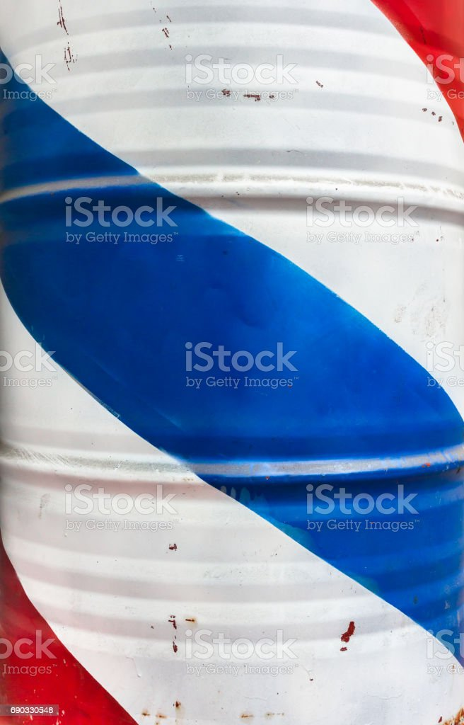 Barrel with french flag stock photo