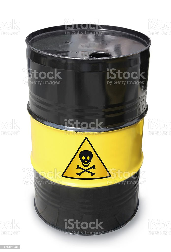 Barrel with Skull Sign royalty-free stock photo