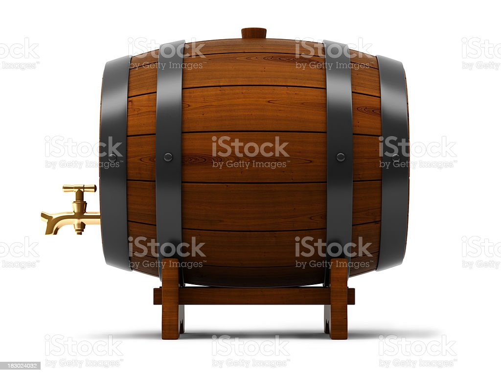 Barrel with tap royalty-free stock photo