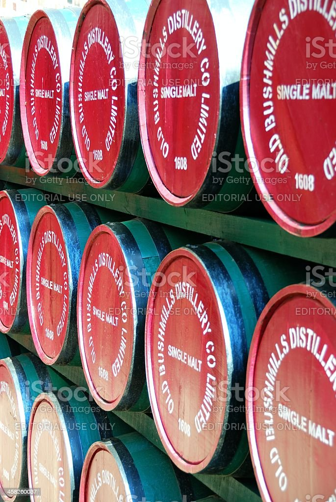 Barrels at the Old Bushmills Distillery royalty-free stock photo