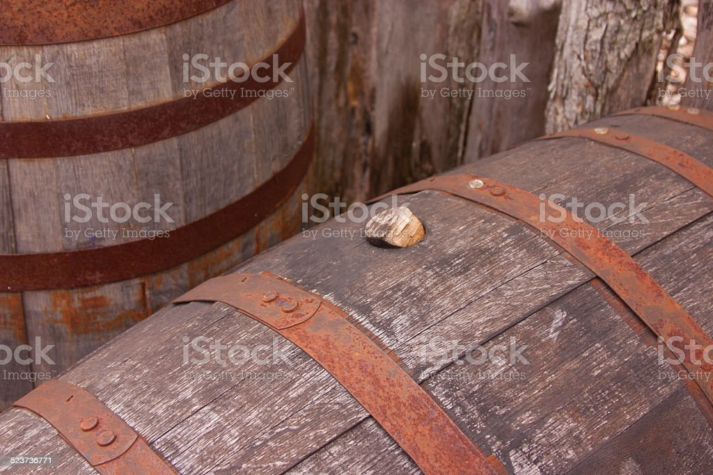 Barrels, Lewis and Clark State Park stock photo