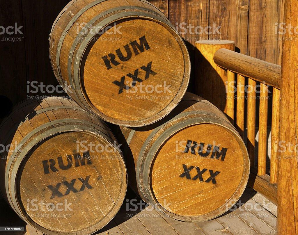 Barrels of Rum stock photo