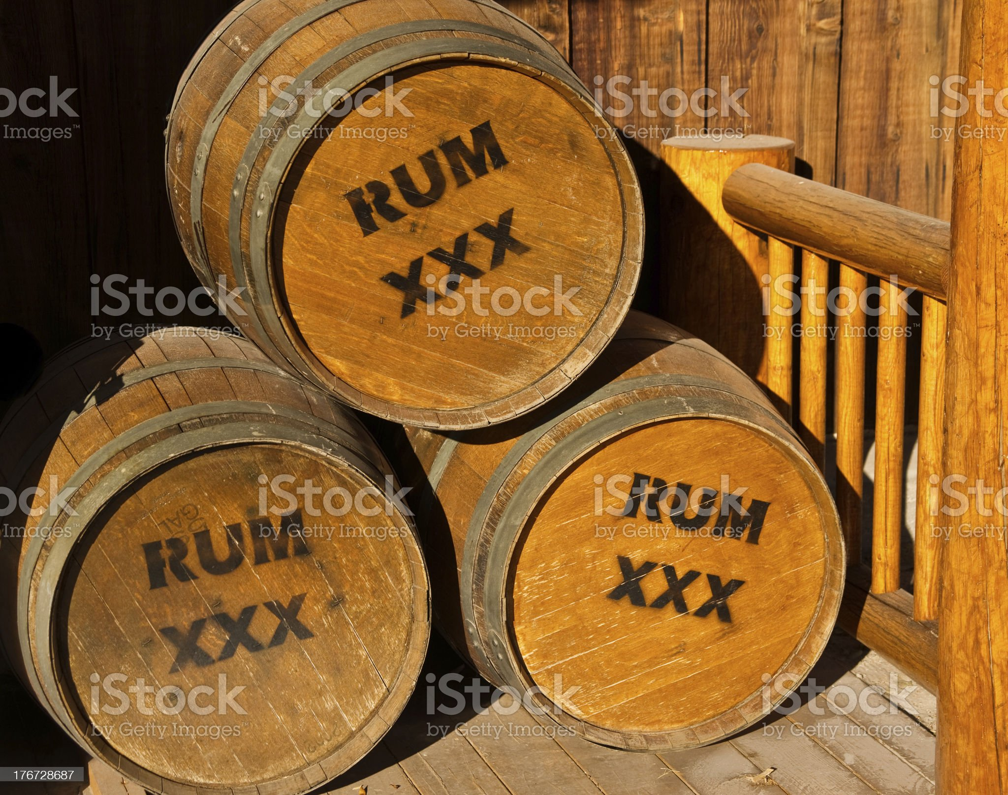 Barrels of Rum royalty-free stock photo