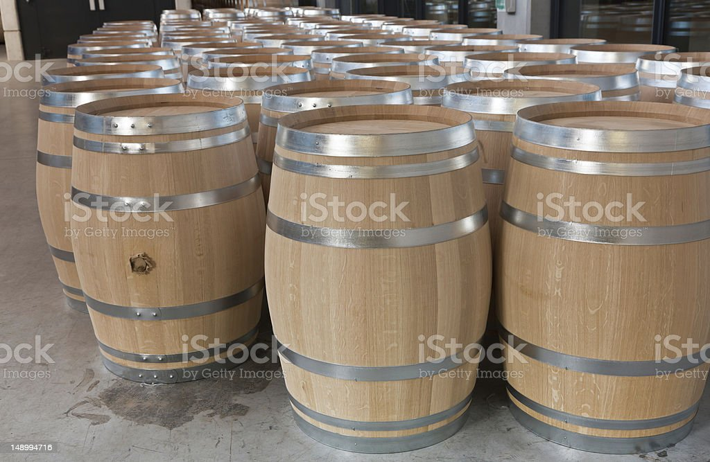 Barrels of wine royalty-free stock photo