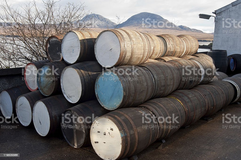 Barrels stock photo