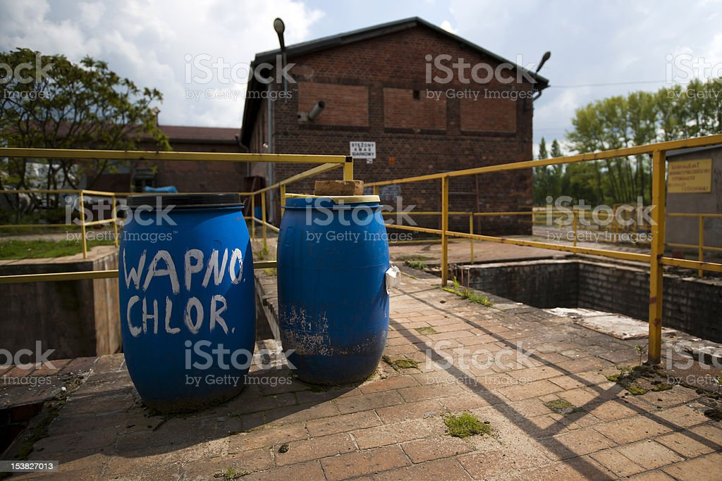 Barrels with chemicals royalty-free stock photo