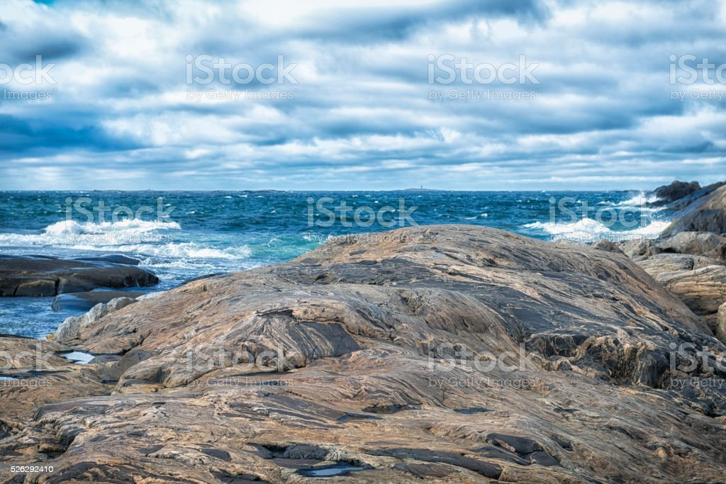 Barren coastal landscape stock photo