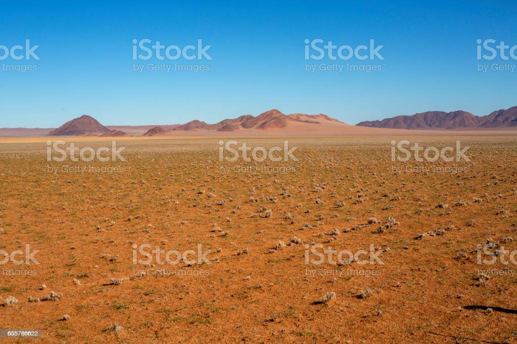 Barren dry landscape stock photo
