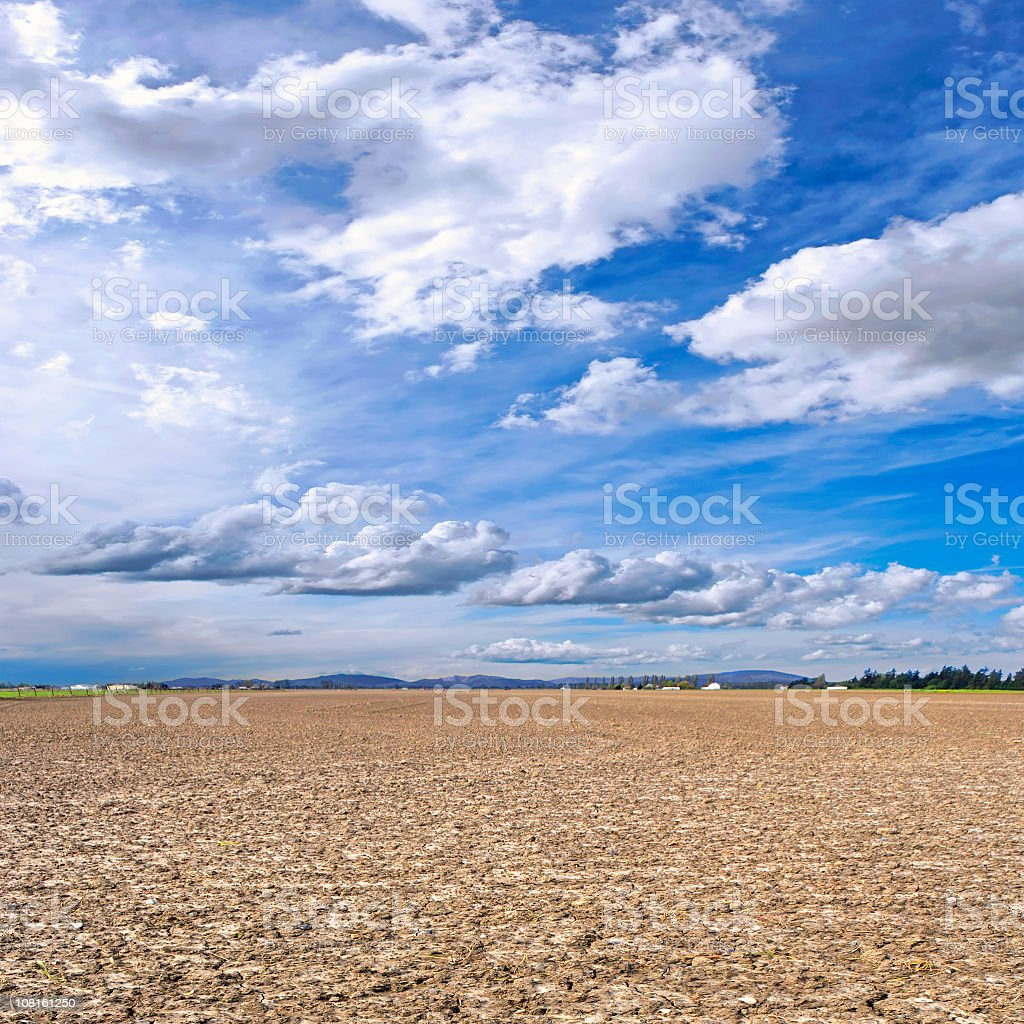 barren farm field royalty-free stock photo