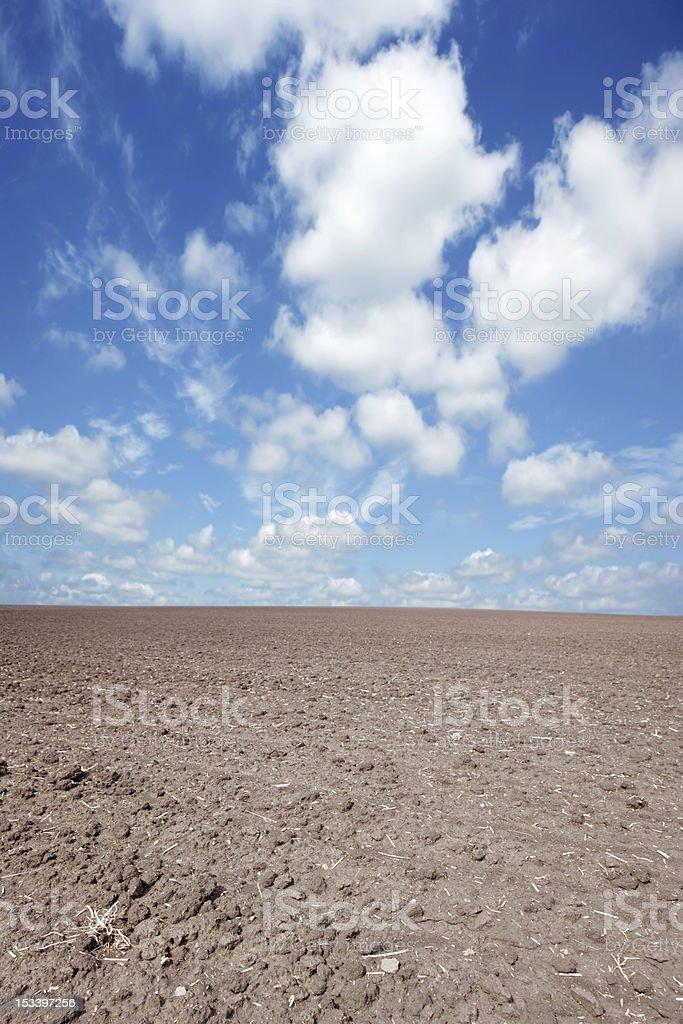 XXXL barren farm field royalty-free stock photo
