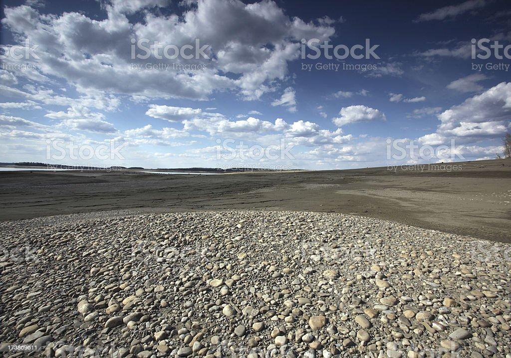 Barren Landscape (two) stock photo