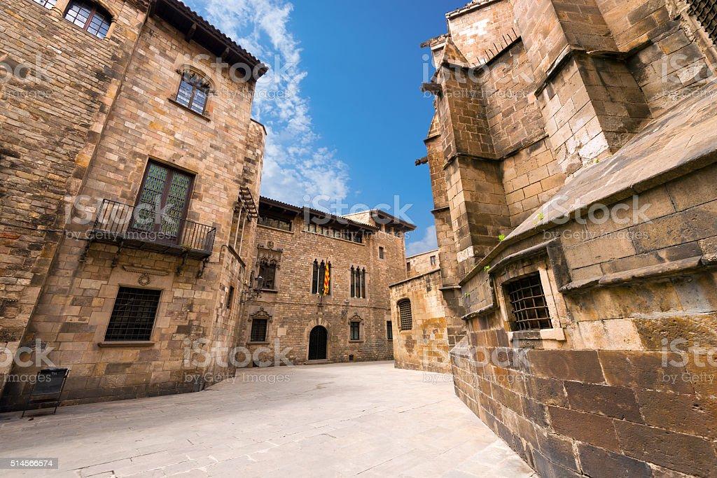 Barri Gothic Quarter - Barcelona Spain stock photo