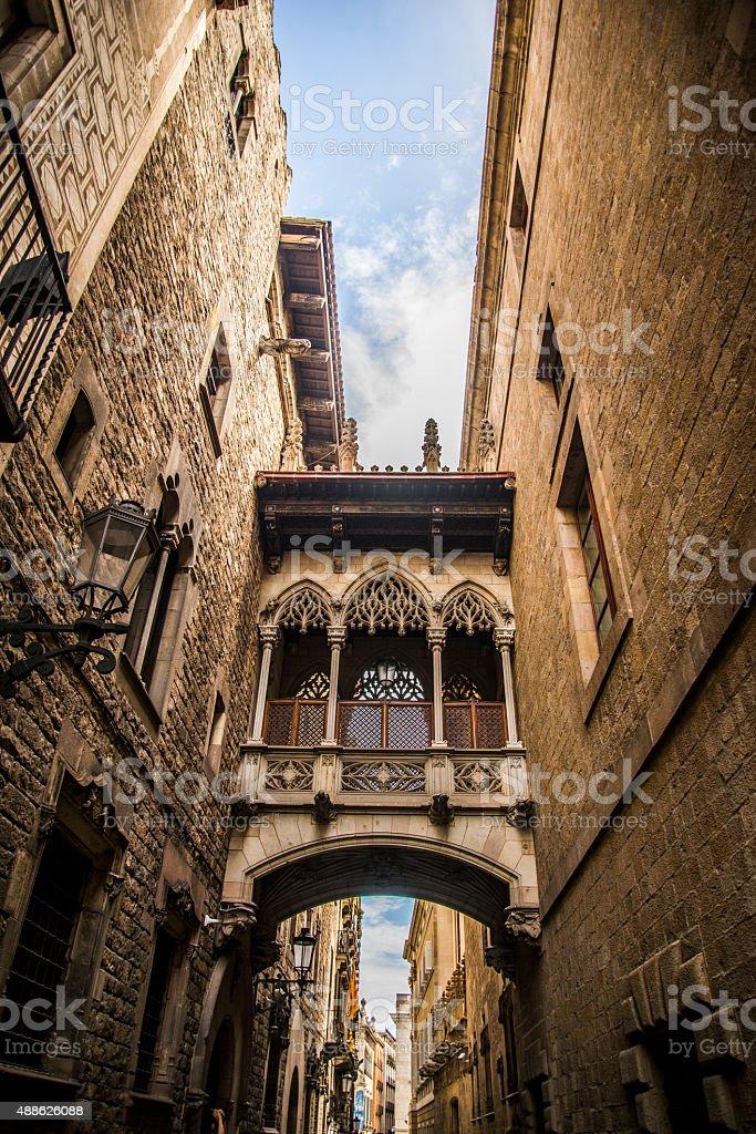 Barri Gotic, Barcelona. stock photo