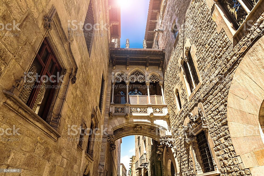 Barri Gotic, Barcelona stock photo