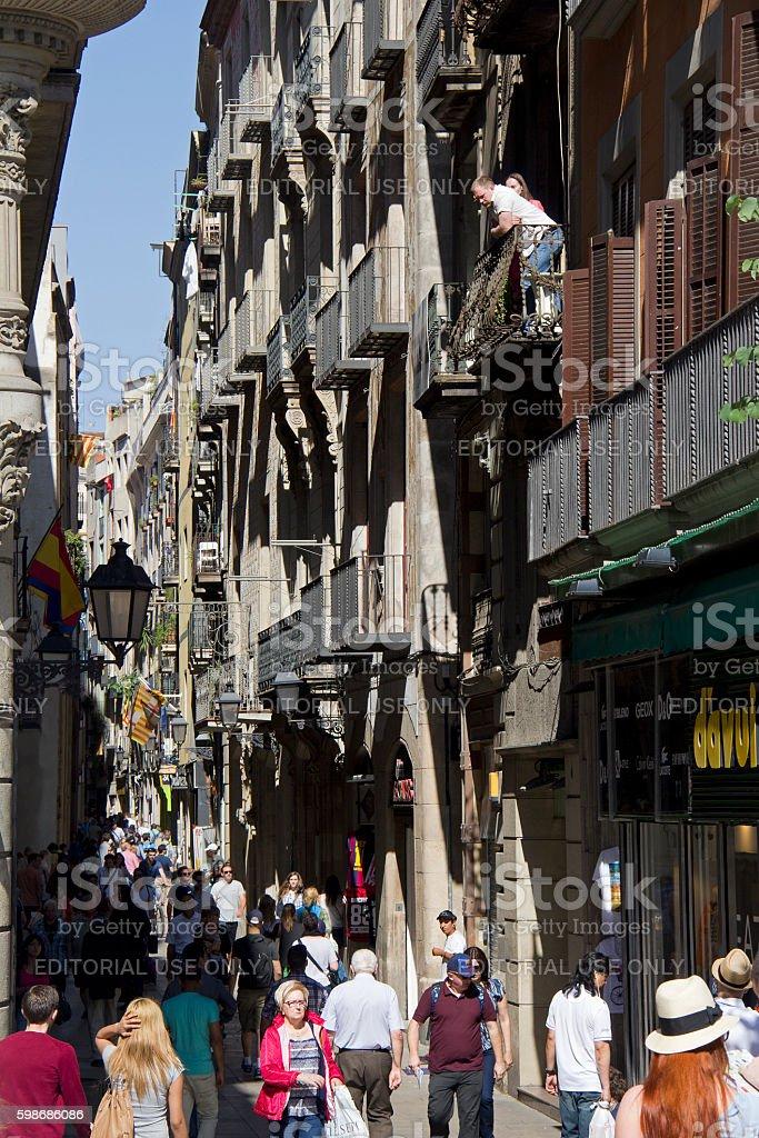 Barri Gotic in Barcelona stock photo