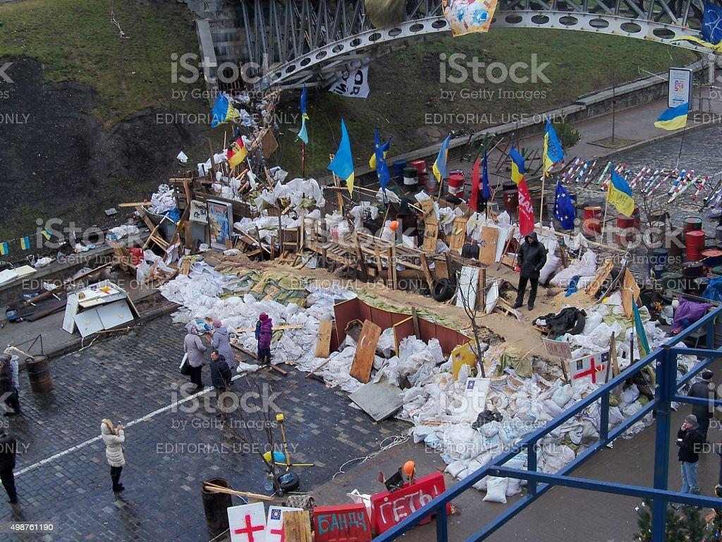Barricade at Independence Square. Ukraine stock photo