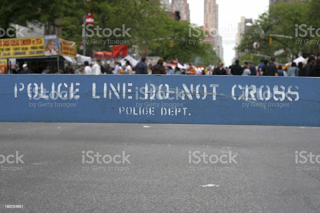 barricade stock photo