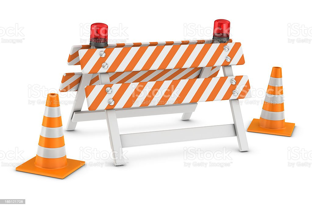 Barricade royalty-free stock photo