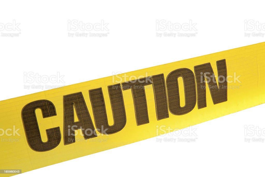 Barricade Tape -Caution royalty-free stock photo