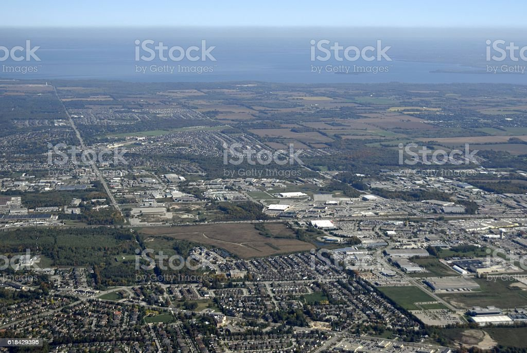 Barrie aerial stock photo