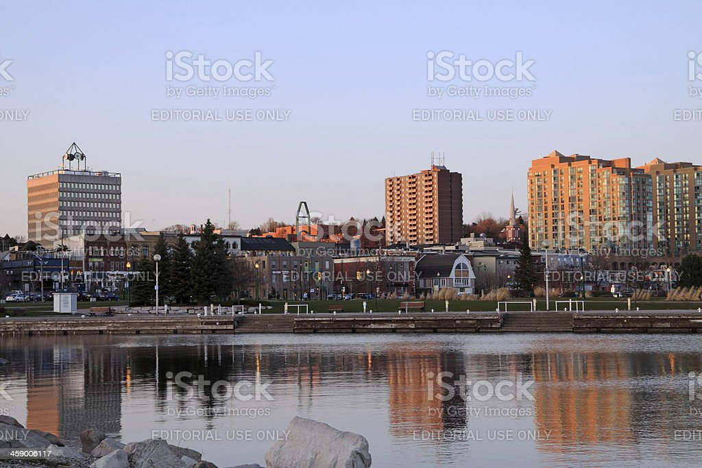 Barrie Downtown stock photo