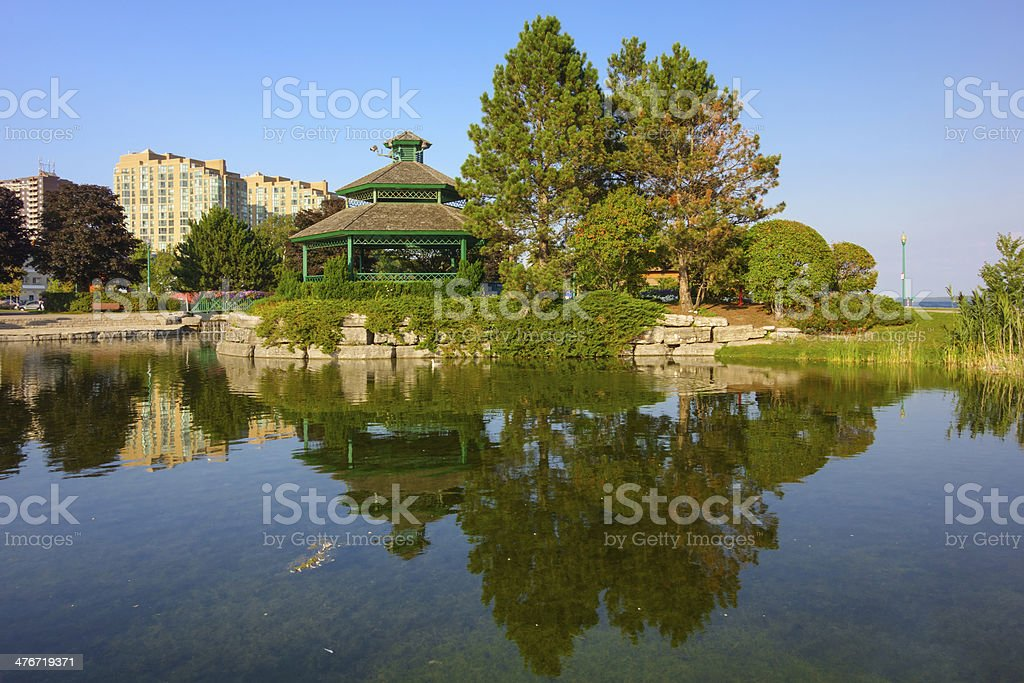 Barrie Ontario Canada Heritage Park Downtown stock photo