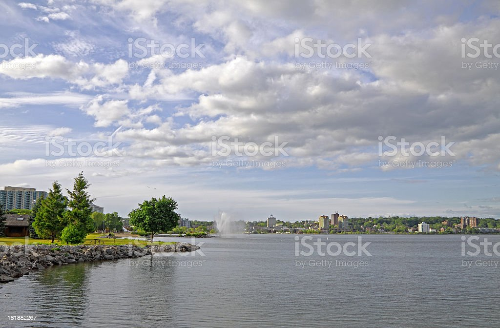 Barrie Waterfront Parks stock photo