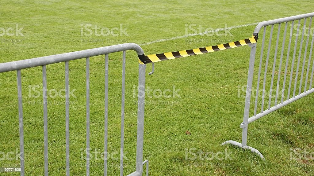 Barrier at the soccer field royalty-free stock photo