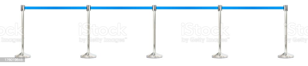 Barrier for queue controlling isolated over white background stock photo