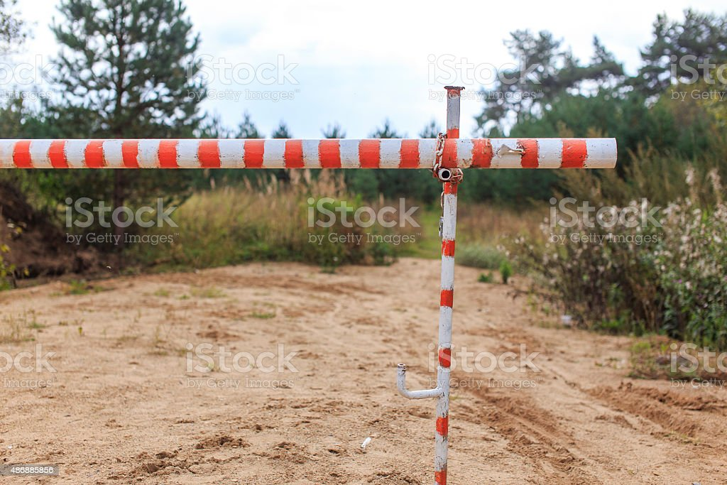 barrier gate stock photo