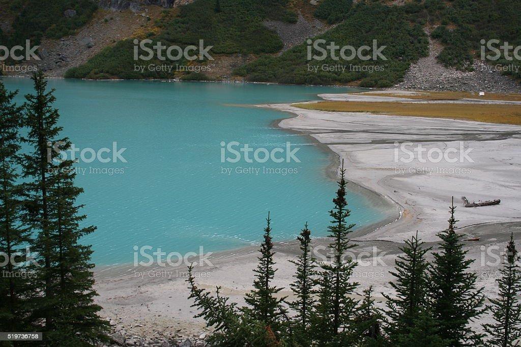 Barrier Lake in Alberta, Canada stock photo