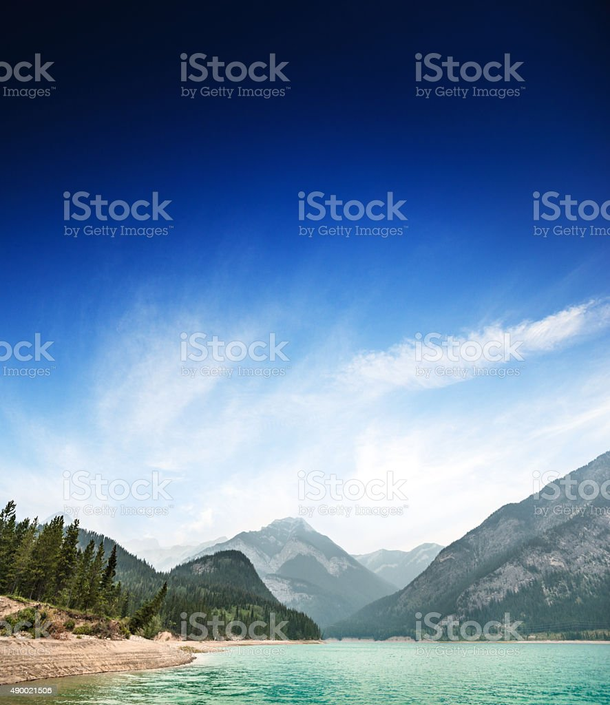 barrier lake in Banff National Park - Canada stock photo