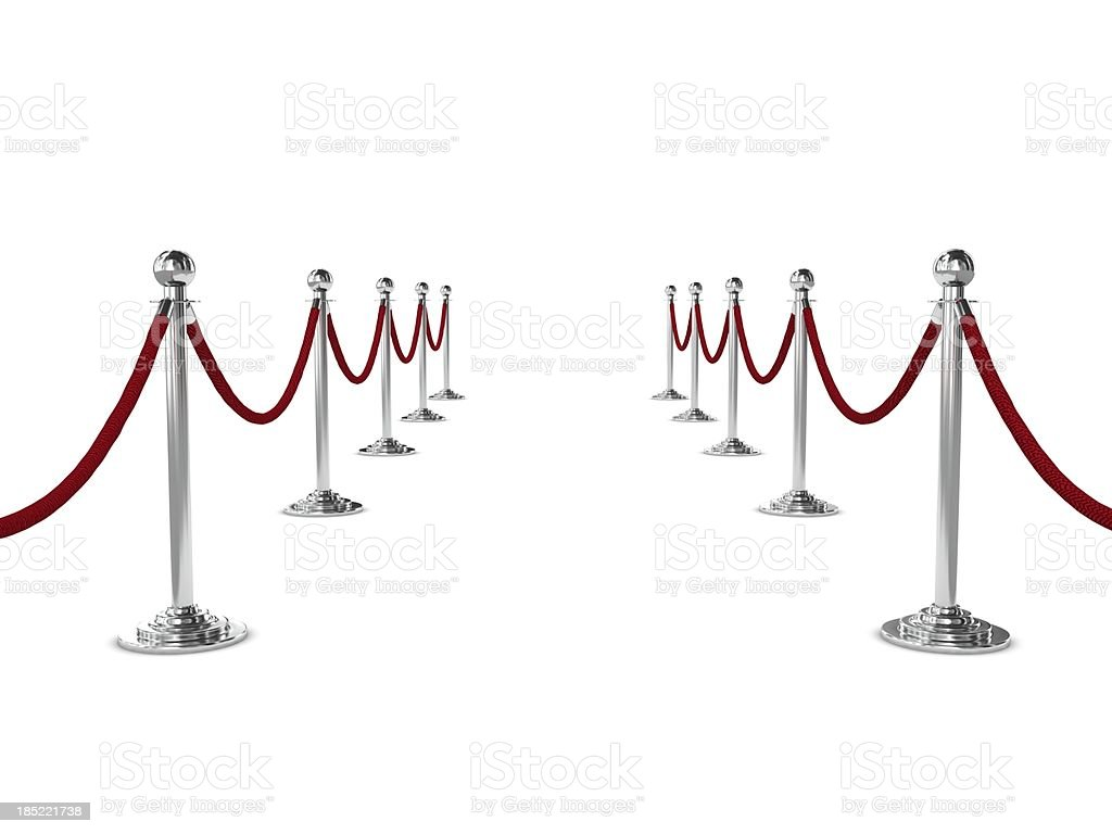 Barrier Rope royalty-free stock photo