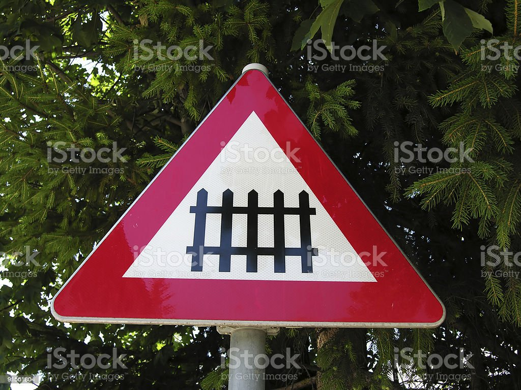 Barrier Sign royalty-free stock photo