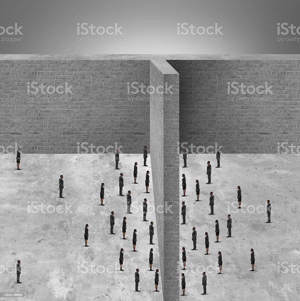 Barrier To Business stock photo