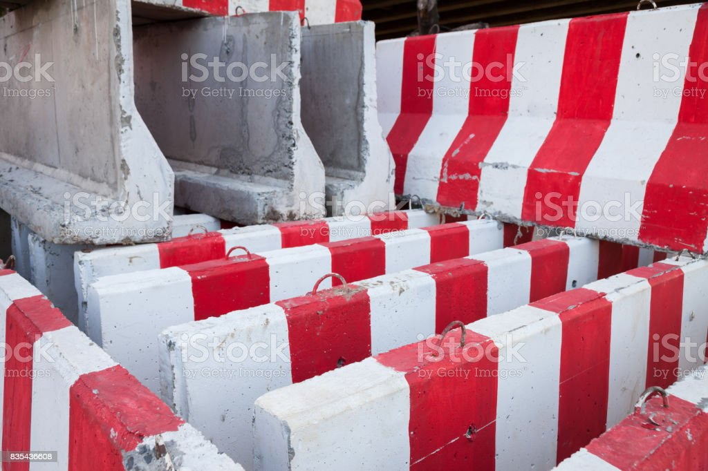 barrier were put together stock photo