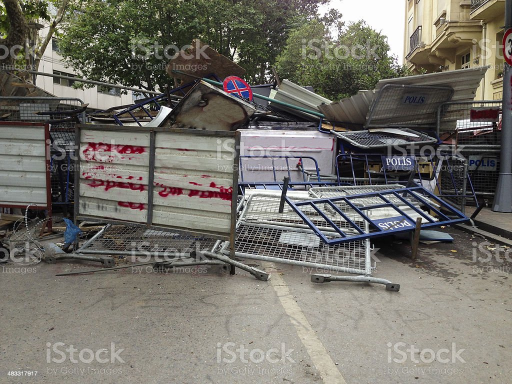 Barriers stock photo
