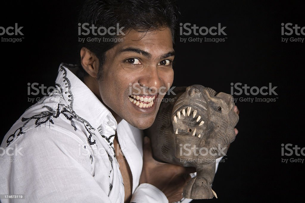 barring human and animal teeth for dentist? stock photo