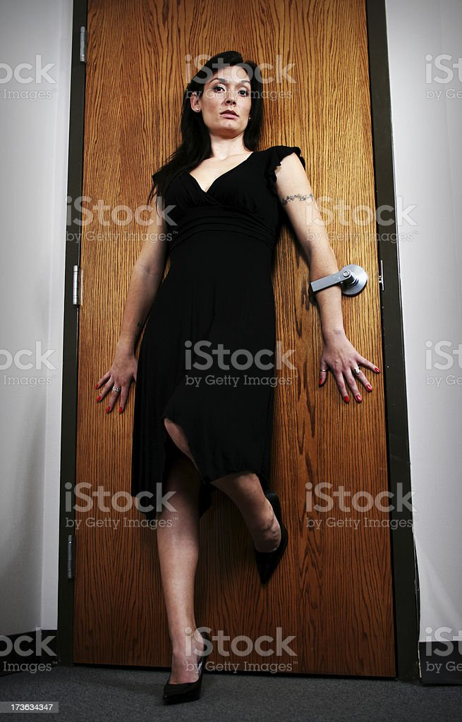 Barring the door royalty-free stock photo