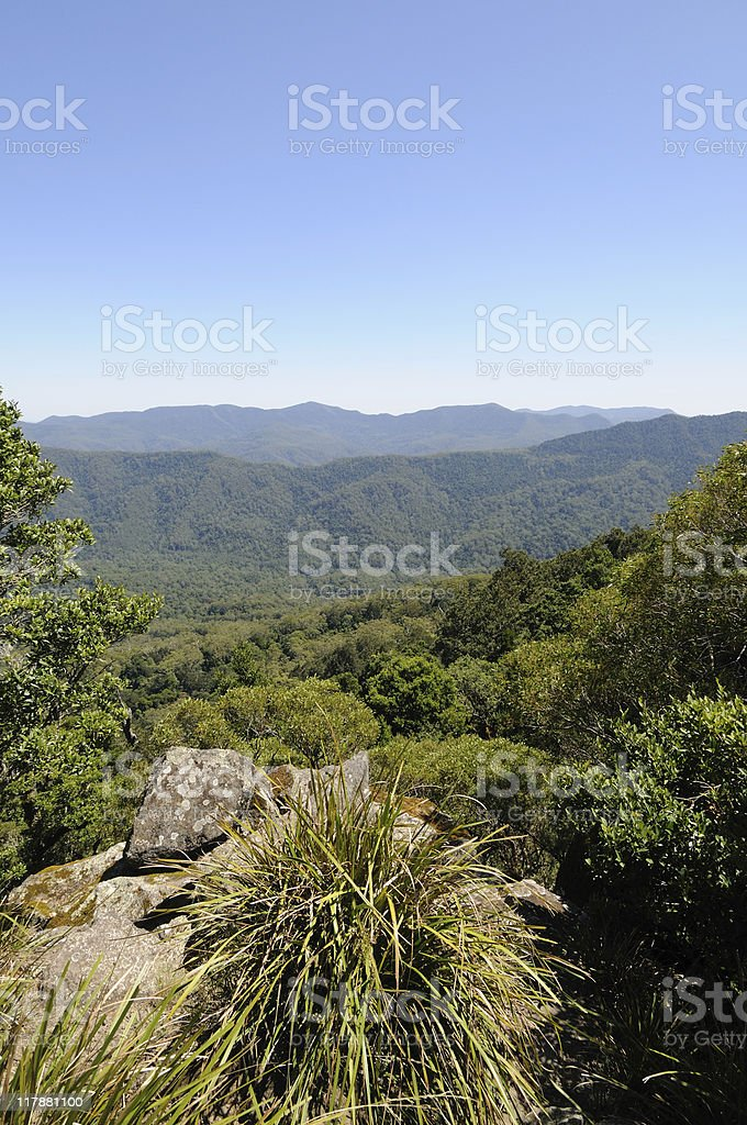 Barrington Tops looking West royalty-free stock photo