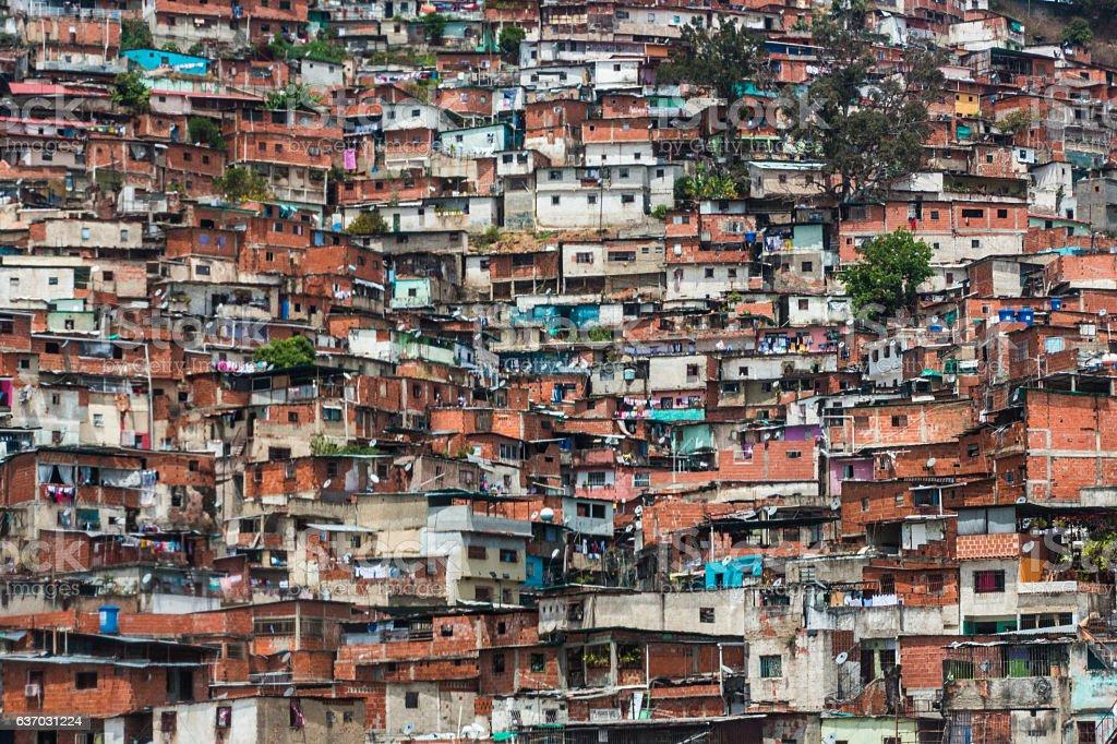 Barrio in Caracas stock photo