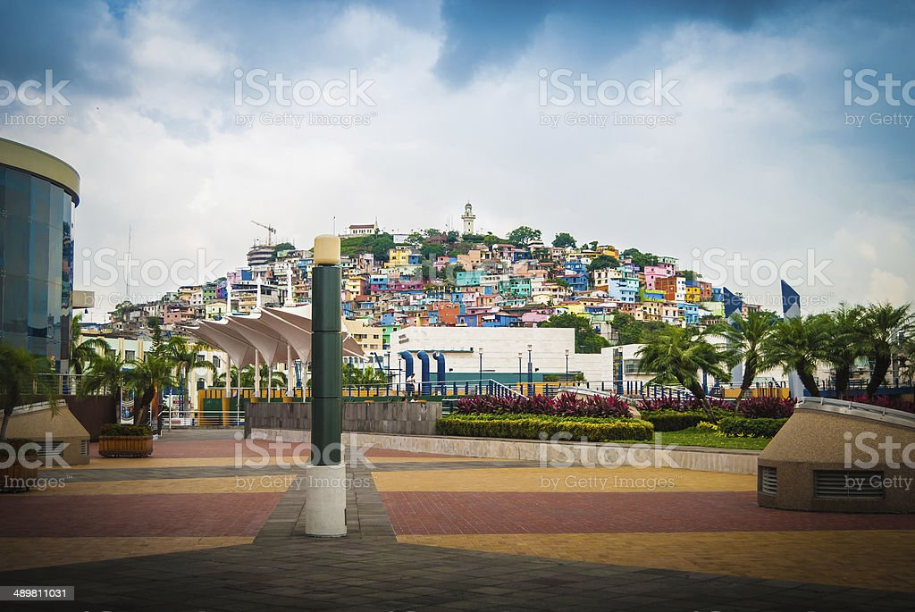 Barrio Las Peñas Guayaquil stock photo
