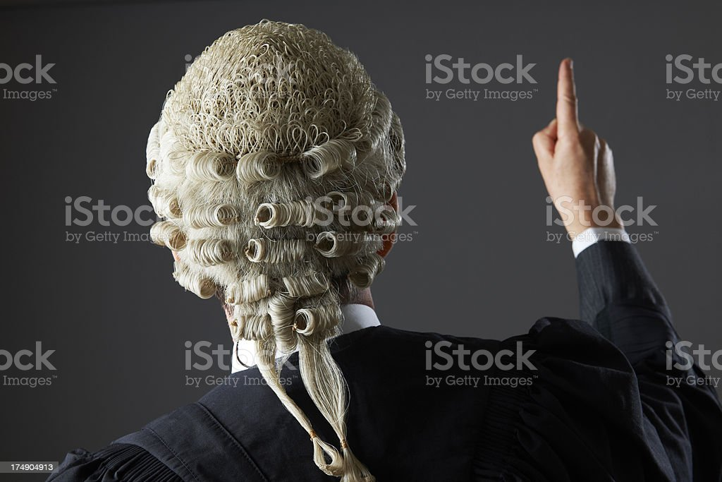 Barrister Making Speech In Court stock photo