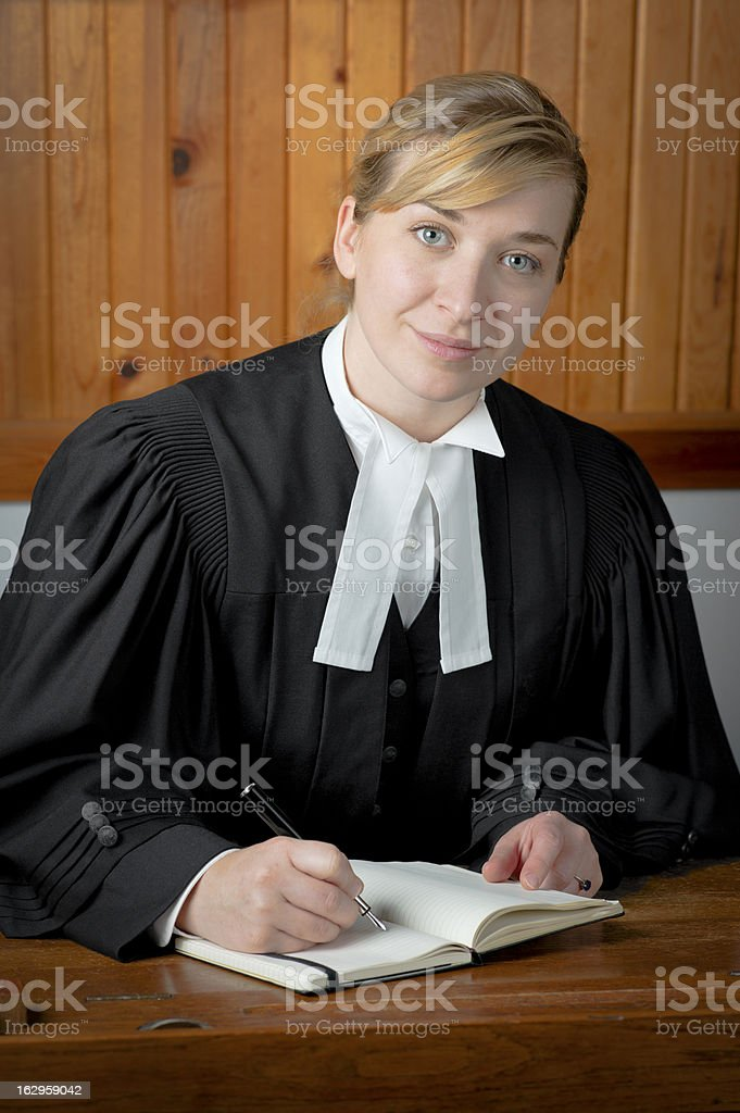 Barrister or Lawyer in Traditional Robes royalty-free stock photo
