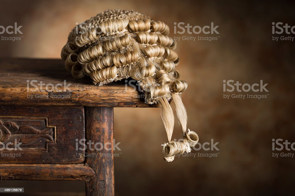 Barrister's wig stock photo