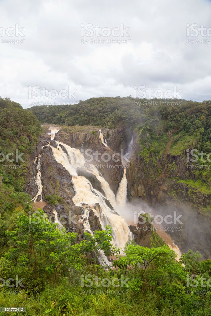 Barron Falls during the wet season stock photo