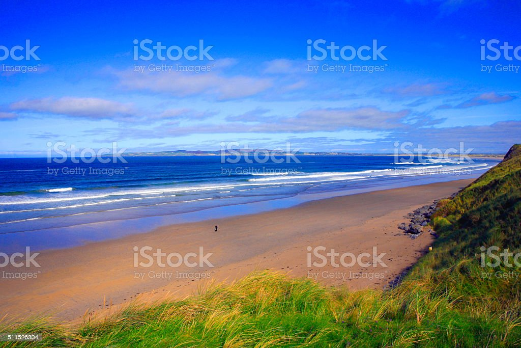 Barrow Beach - Ireland stock photo
