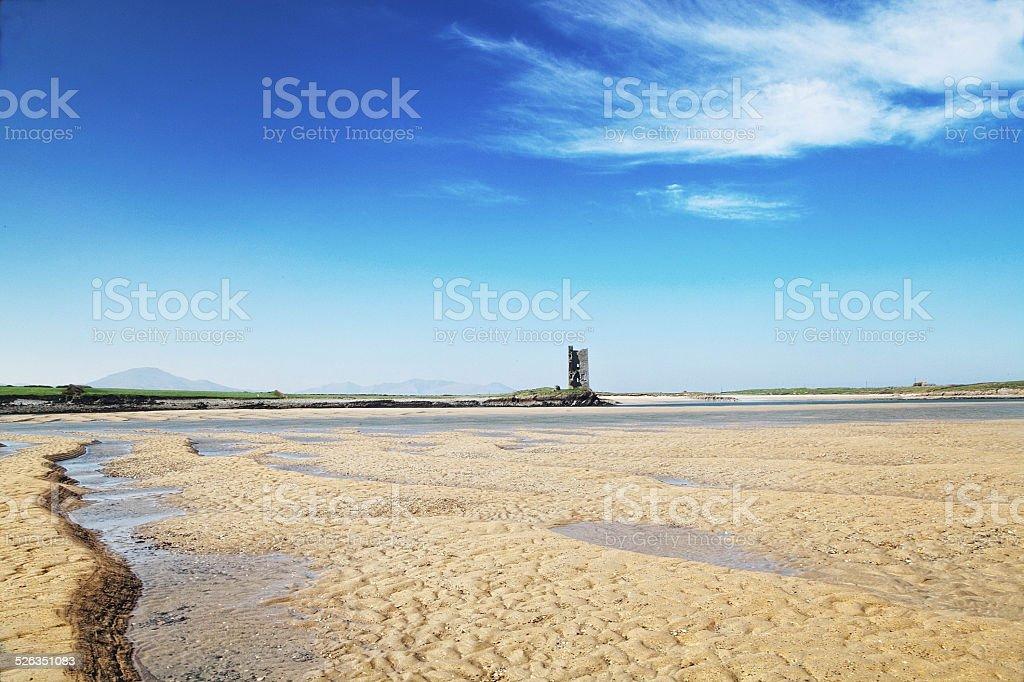 Barrow Strand & Castle stock photo