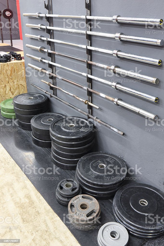 Bars and weights stock photo